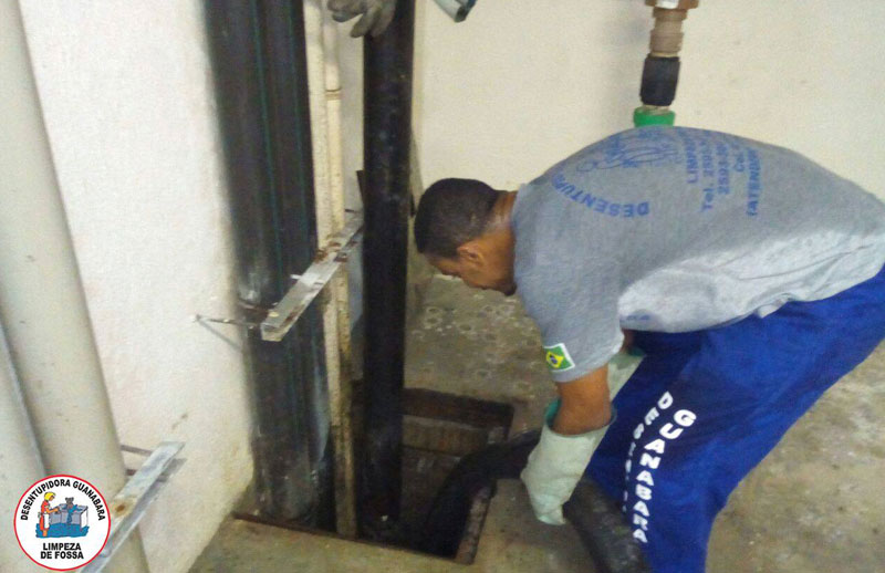 Desentupimento de coluna de água potável